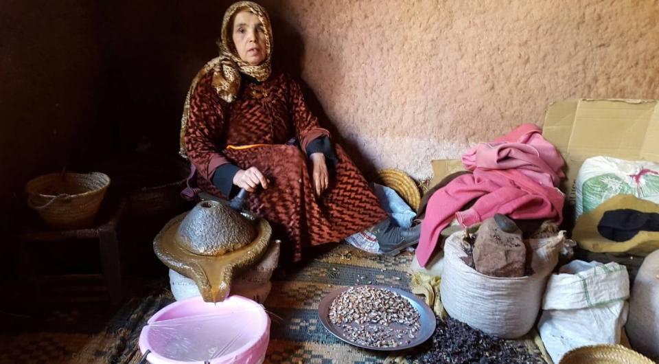 Coopérative de femmes pour la production d'huile d'argan au Maroc