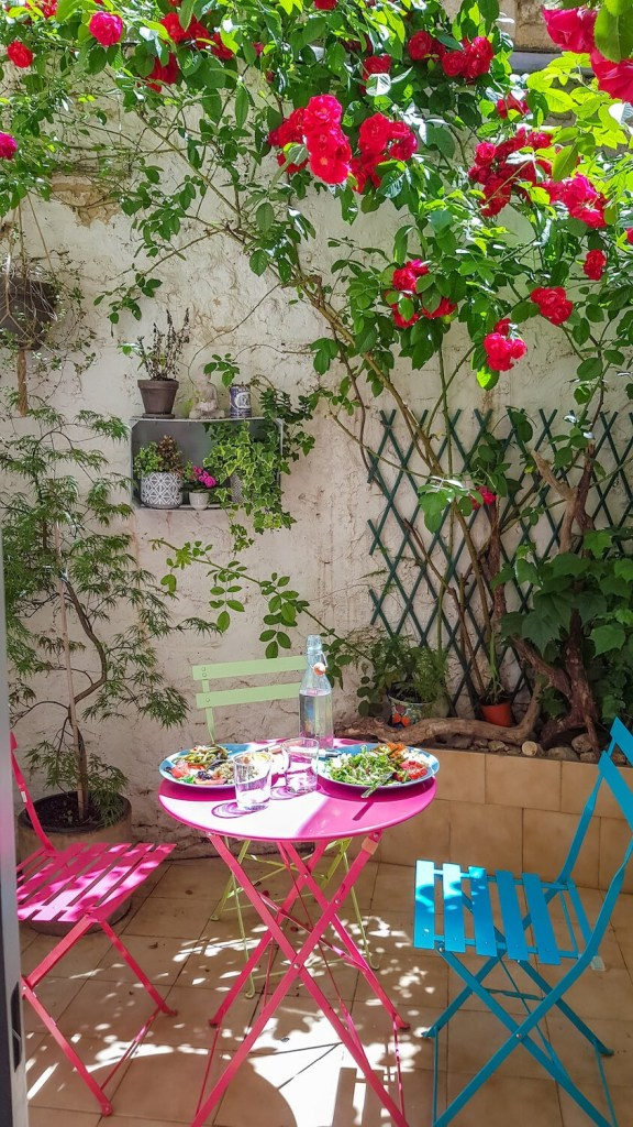 Notre terrasse dans notre appartement de Montpellier centre ville