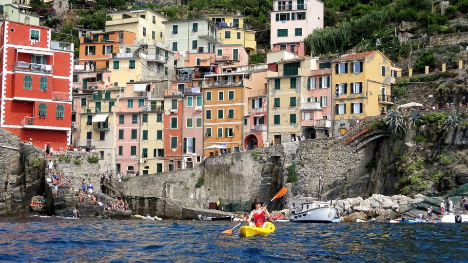Départ de Riomaggiore en Kayak de mer
