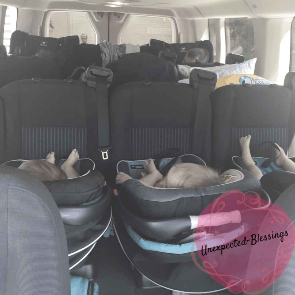 Family of 7 in Ford Transit