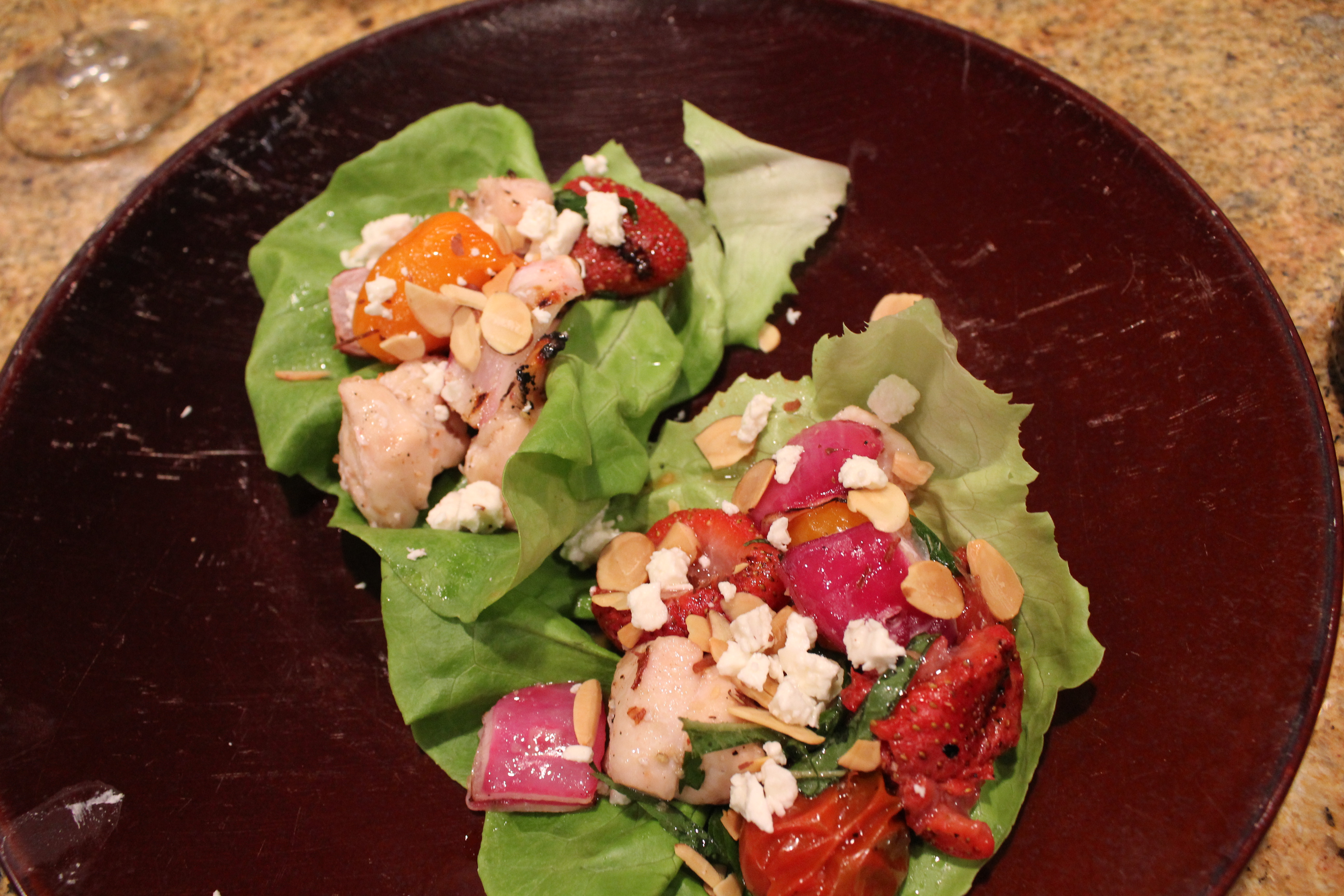 Recipe Monday: Grilled Strawberry, Tomato, and Chicken Wraps