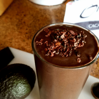 Dark Chocolate 'n Nut Butter Avocado Smoothie