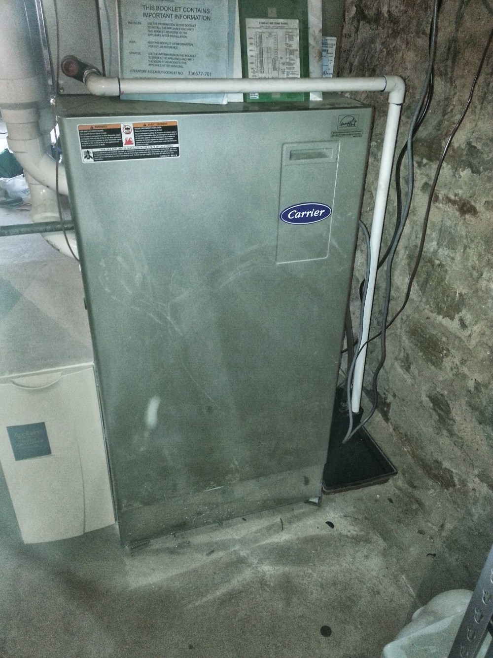 medium resolution of our carrier furnace in the deep dark basement