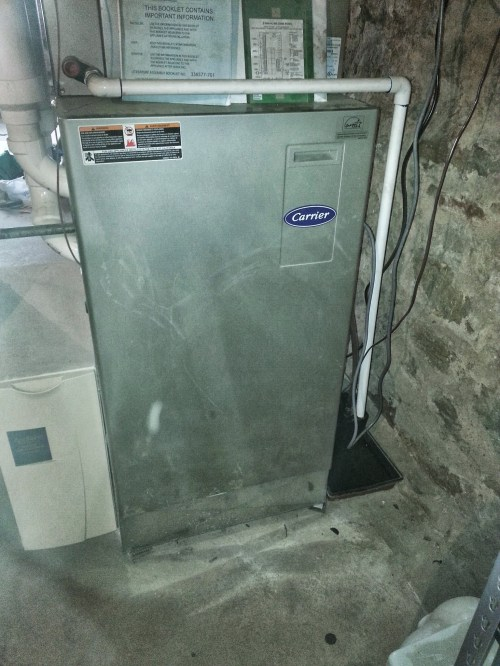 small resolution of our carrier furnace in the deep dark basement
