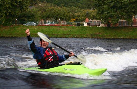 River kayaking traning