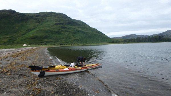 Packing sea kayak