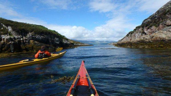 Sea kayaking at Raasay