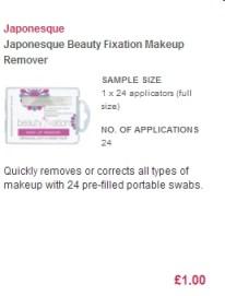 Japonesque Beauty Fixation Makeup Remover Swabs