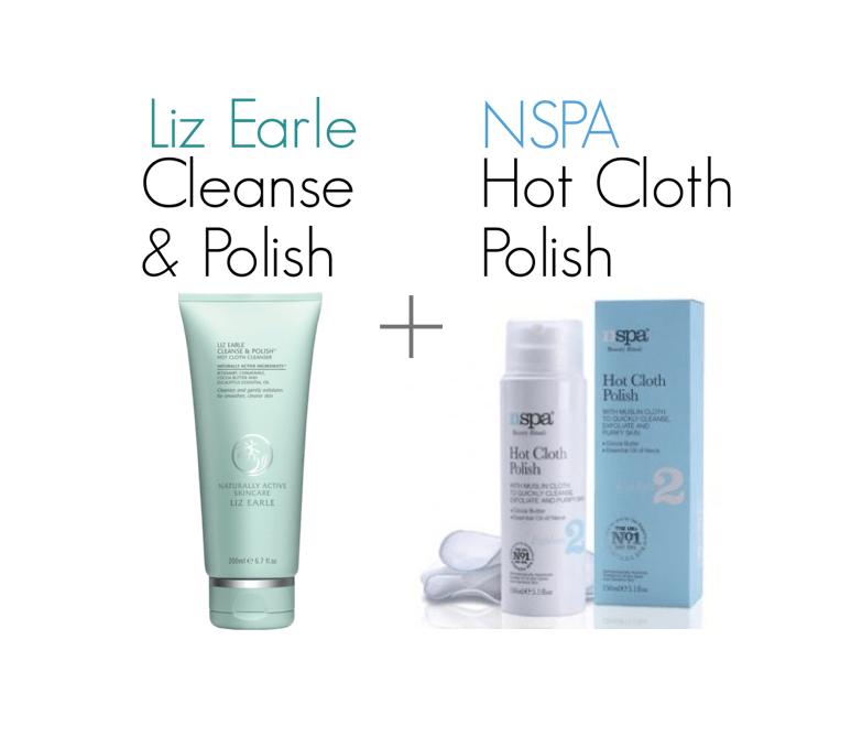 LIZ EARLE CLEANSE & POLISH & NSPA HOT CLOTH POLISH