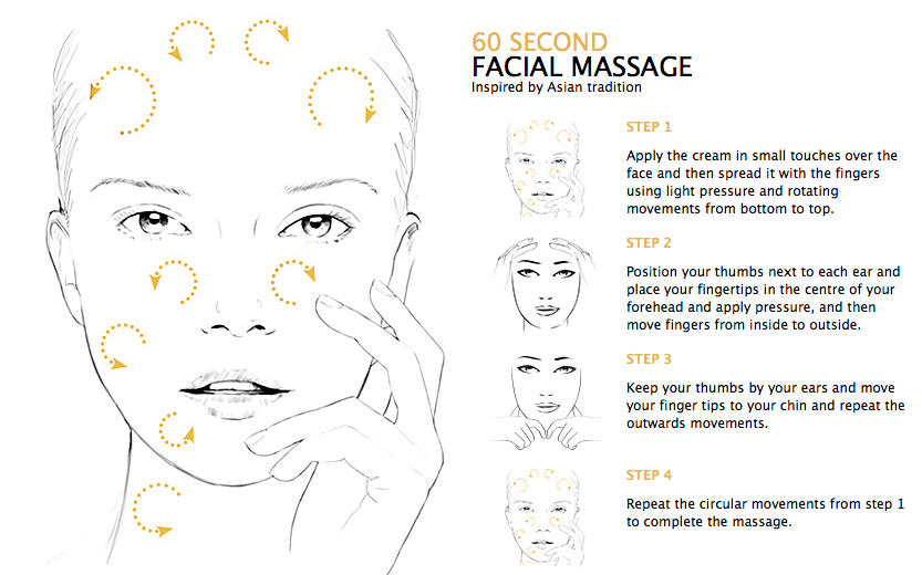 60 SECOND FACIAL MASSAGE Inspired by Asian tradition