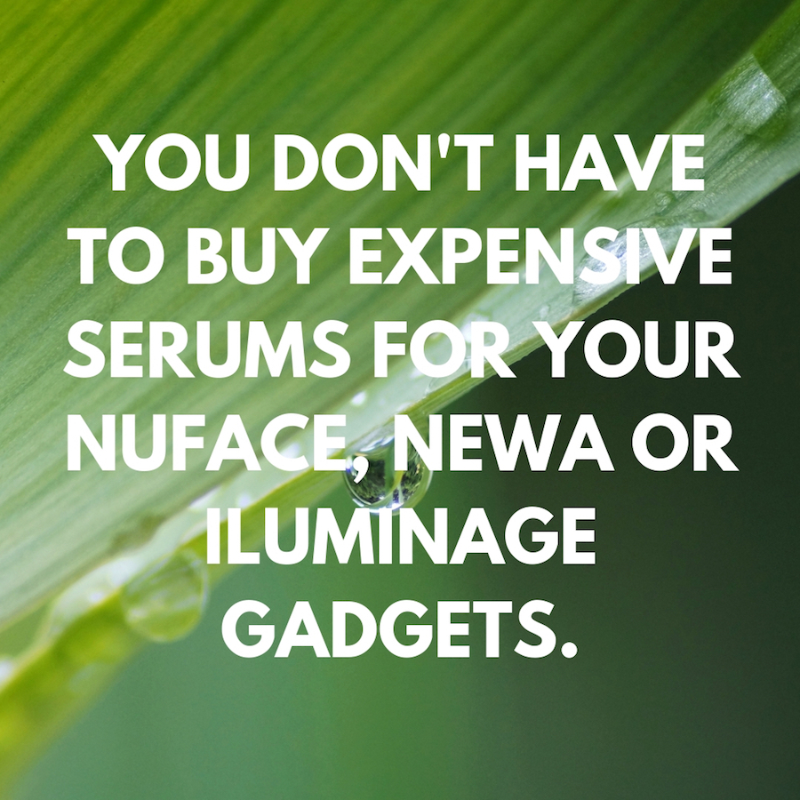 Inexpensive serums for anti-ageing devices