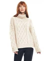 Emma Watson ethical fashion cableknit sweater