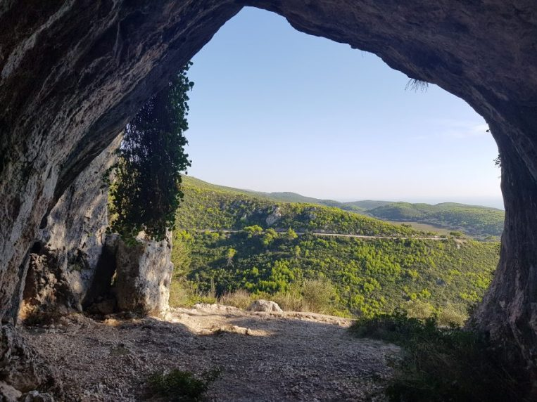 Lower section of the cave