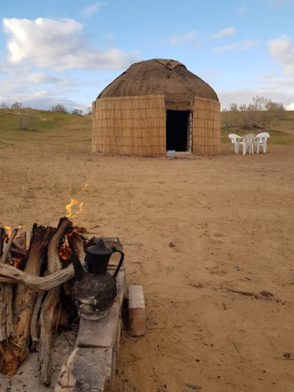 Fire outside our Yurt