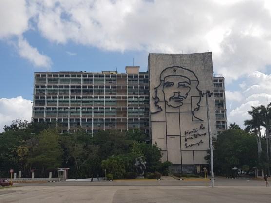 Che Guevara mural in Revolution Square