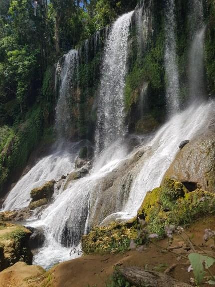 Beautiful waterfall at El Nicho