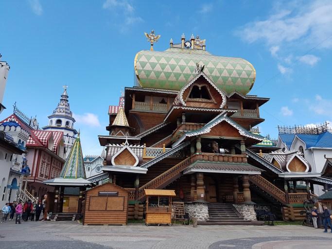 Wooden building in Izmailovsky bazar