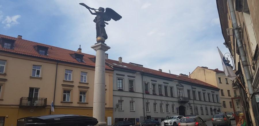 Angel of Uzupis statue