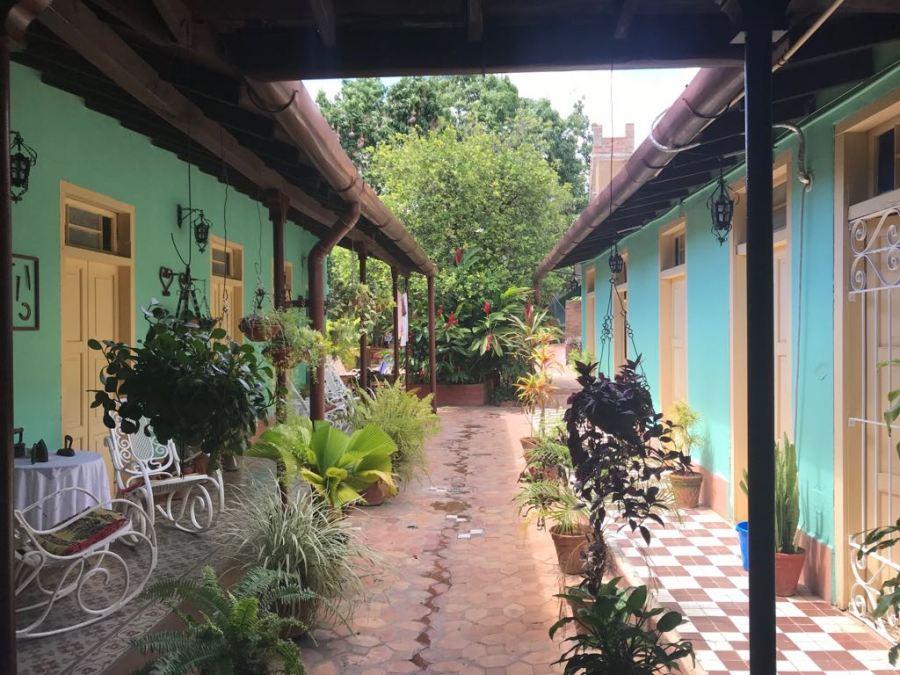 Casa courtyard in Trinidad