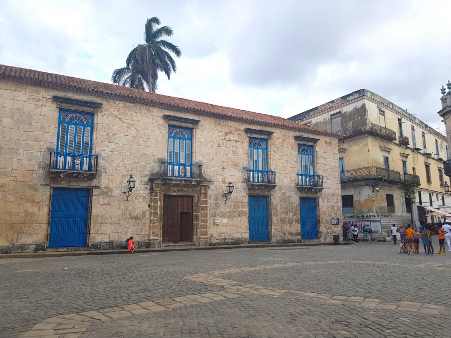 Building on Plaza de la Cathedral, Cuba