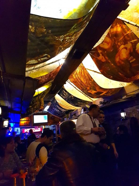 Underground bar in Ukraine