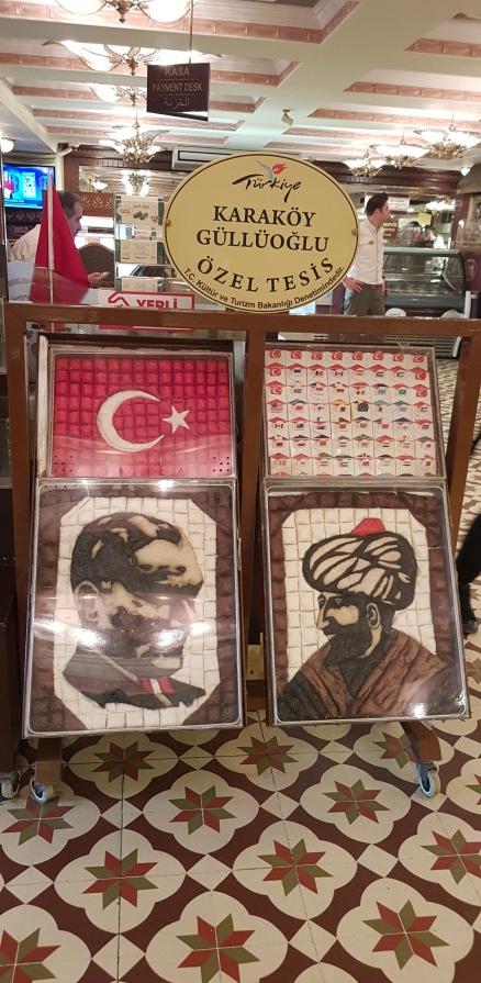 Display at Karaköy Güllüoğlu
