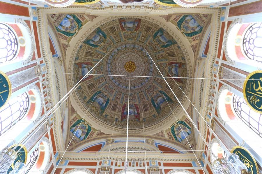 Impressive ceiling in Ortakoy mosque