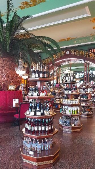 Interior of Eliseyev Emporium coffee shop