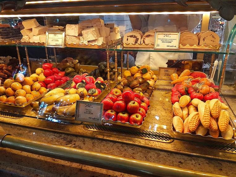 Marzipan fruit in Eliseyev Emporium Coffeeshop