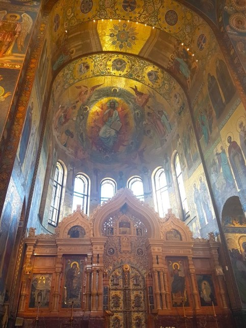 The interior of the Church on Spilled Blood