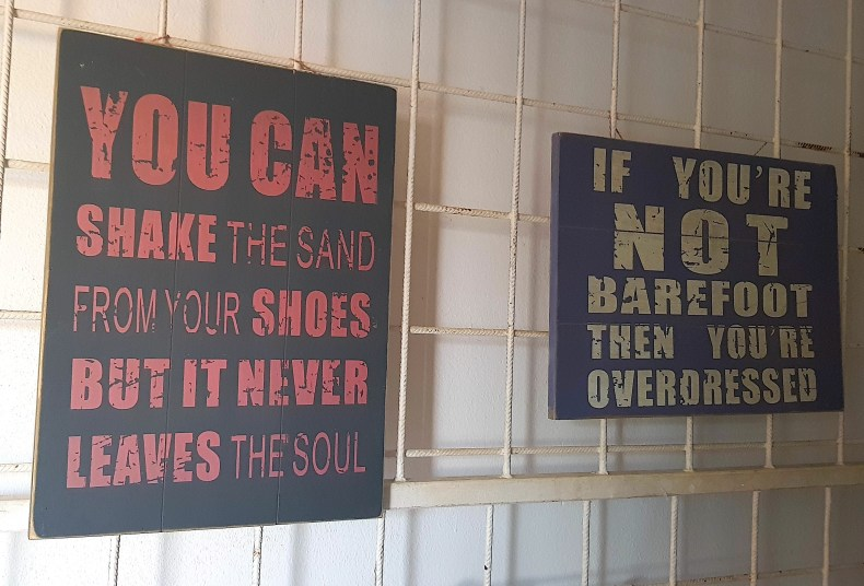 Barefoot restaurant in Aruba