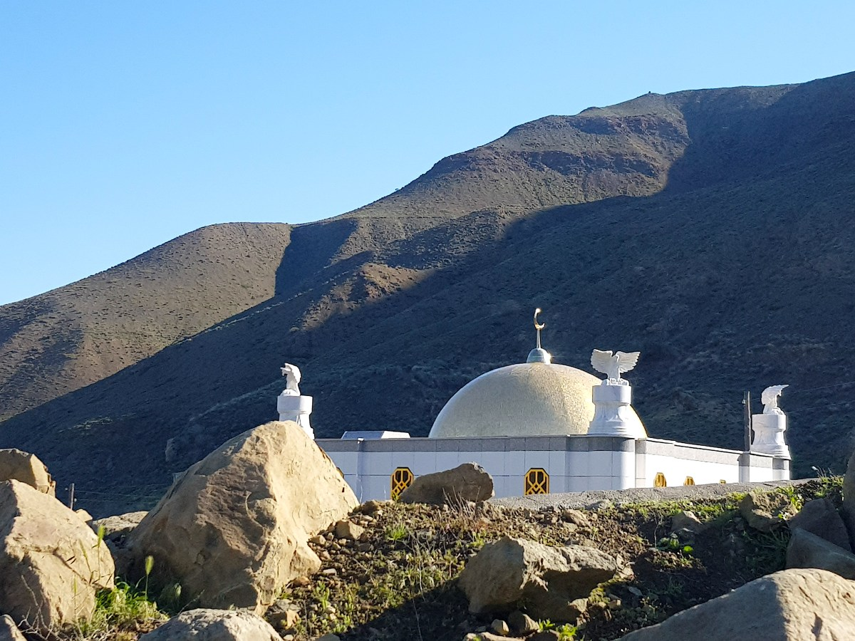 Mosque in Nokhur Turkmenistan