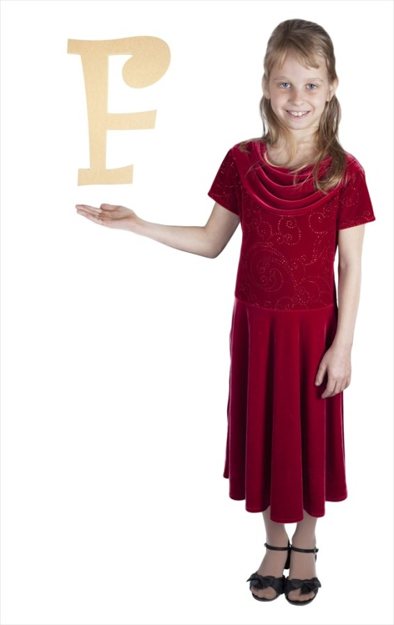 """Curly Letters 16"""" Letter F"""