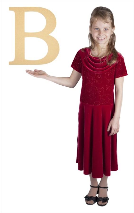 "Times New Roman 16"" Letter B"