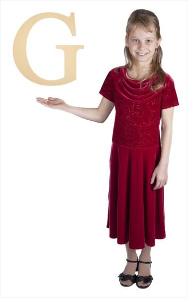 "Times New Roman 16"" Letter G"