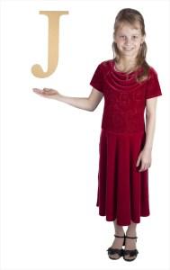 "Times New Roman 16"" Letter J"
