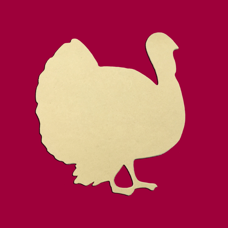"Turkey Door Hanger Unfinished: 21"" Thanksgiving Turkey Door Hanger Unfinished DIY Wood"