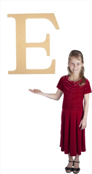 """Times New Roman 24"""" Letter E"""