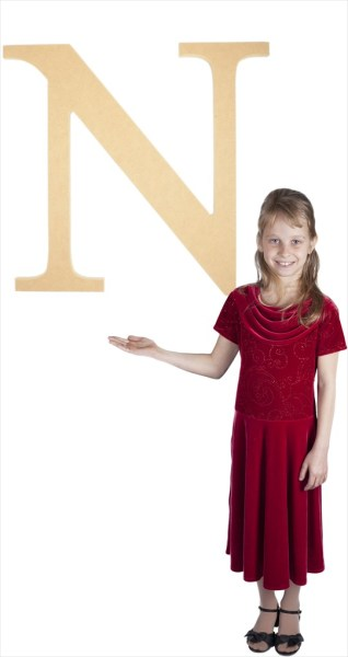 "Times New Roman 24"" Letter N"