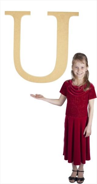 """Times New Roman 24"""" Letter U"""
