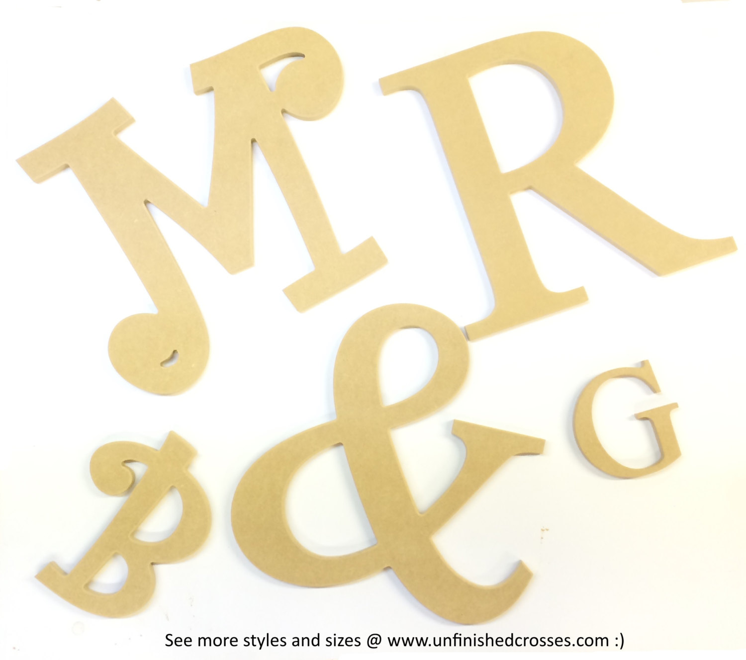 31 X 8 Script Mr Mrs Cursive Text Words Unfinished Diy Wood Craft Wooden Cutout To Sell