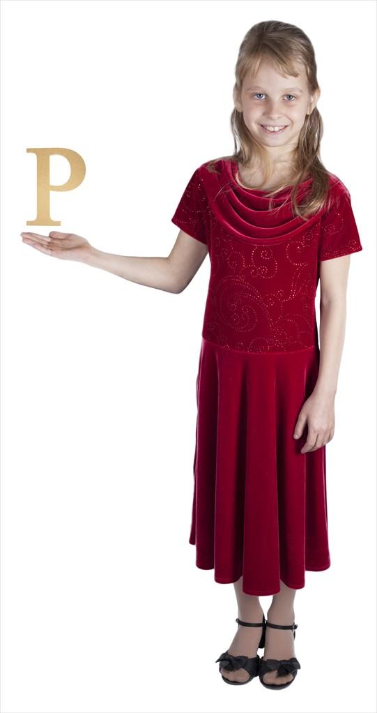 "Times New Roman 6"" Letter P"