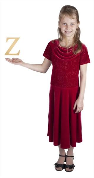 "Times New Roman 6"" Letter Z"