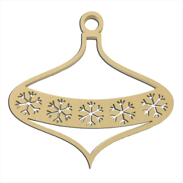 """Snowflake Banner Large Ornament 14"""" x 14"""""""