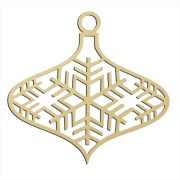 "Snowflake Large Ornament 14"" x 14"""