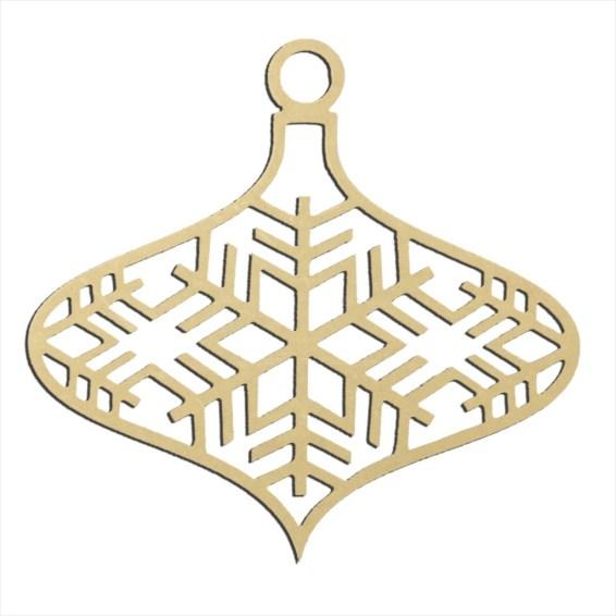 "Snowflake Large Ornament 14"" x 14"""