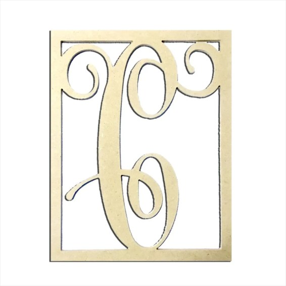 "14"" Monogram Capital Letter C"