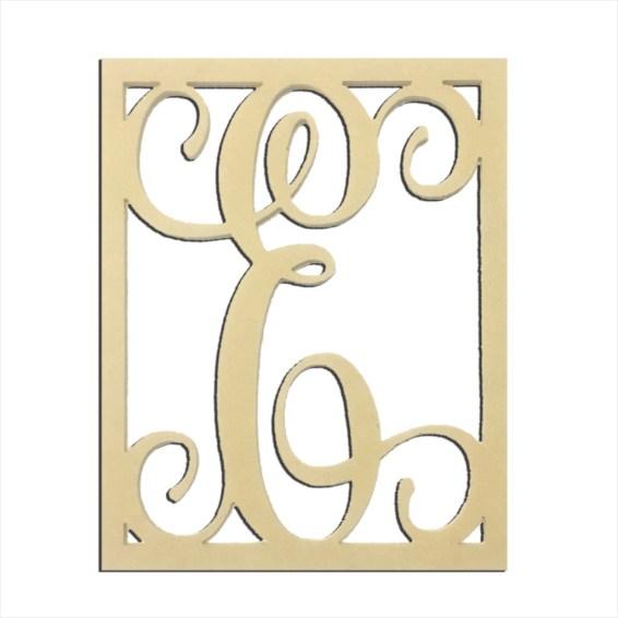 """14"""" Monogram Capital Letter E"""