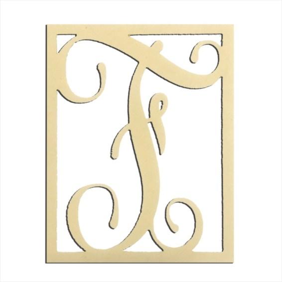 """14"""" Monogram Capital Letter F"""