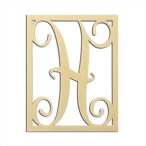 """14"""" Monogram Capital Letter H"""